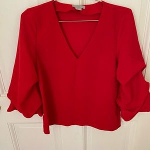 H&M blouse with ruffle sleeves